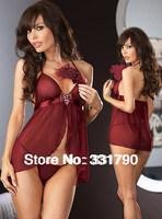Free Shipping Sexy Satin Adult love Plus Size  XL 4XL Trasparent Women Babydoll Lingerie 10 PCS Lot Pajamas for Women wholesale
