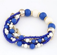 Min order $10 (mix order)2013 Bracelet Bohemian mix of metal multilayer  beads Bracelet&Bangles  fashion jewelry wholesale
