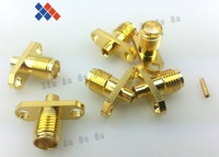 10pcs RF connector  SMA female jack nut bulkhead solder SMA-KF two hole for RG402 free shipping