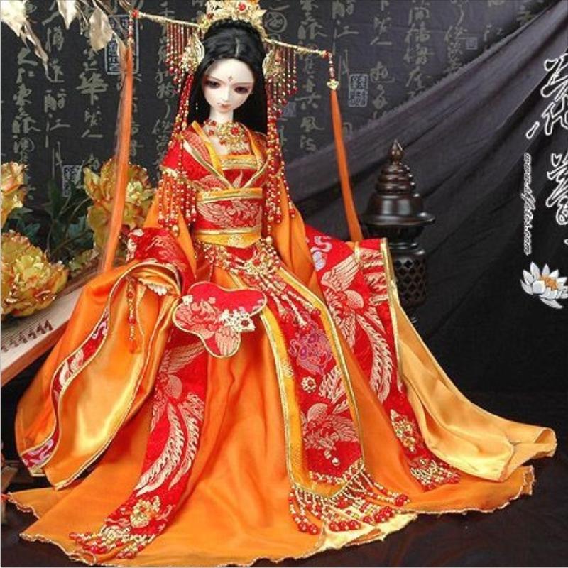Female costume sd doll women's orange gorgeous princess theniwould take(China (Mainland))