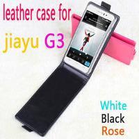 Original Flip Leather Case for Jiayu G3 Smartphone Black Color cheap case hot sell case