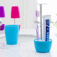 toothbrush holdand tumbler holder bathroom supplies toothpaste storage rack home appliance