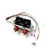 2PCS 0.4 mm 0.4mm Nozzle Extruder Print Dual Head Double Head for 3D Printer Dual-head