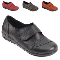 free shipping mother shoes genuine leather shoes single women's shoes leather flat plus size  35 -- 43