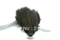 FREE SHIPPING -Wholesale 100pcs/lot 8-10inch Black Ostrich Feather plume for wedding feather centerpiece Table decoration