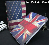 Retro Style Nation Flag PU Leather Stand Case For iPad Air iPad5