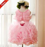 2014 kids  children girls princess dress big flower wedding dresses TUTU birthday  gift
