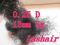 eyelashes human hair individual lashes extension 0.25D13mm