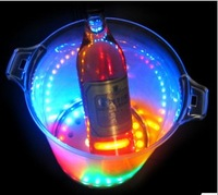 Colorful flash ice led luminous bucket beer bucket 30 lamp ktv led cub  PS 5L Party Supplies