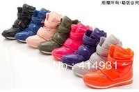 Free shipping 2013 new Rubber duck snow boots multicolor Thickened Patent Leather Women's Waterproof Slip-resistant Space Boots