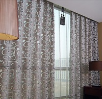 Grey quality dodechedron cutout fashion finished products living room curtain window screening