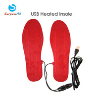 Wholesale 5 Pairs Plush Man/Women Warm USB Heating Heated Shoe Insole Pad Inserts