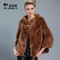 EMS express delivery free Full leather rex rabbit hair fur coat outerwear rabbit leather coat fur stripe slanting