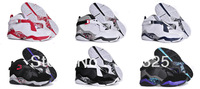 Freeshipping 2013 Hotsale Brand Name Air Jumpman 8 J 8 J8 Retro 8 Men's Basketball Shoes,Men's Athletic Shoes ,Us 8-13