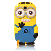 Fashional new arrival cute cartoon model silicon material Despicable Me Yellow Minion Case for Samsung Galaxy Note3 Note3 N9000