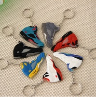 New hot 1 SET of 7colors silicon rubber AJ 5 (number23) Basketball Shoes Keychain Mobile Phone Straps (7pcs)