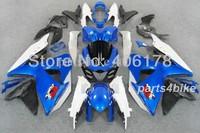 Free shipping,Racing fairing kit for suzuki GSX R1000 09-12 GSXR 2009-2012 K9 fairings high grade blue white (Injection molding)