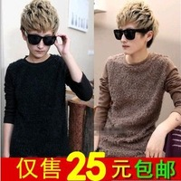 2013 autumn and winter long-sleeve male T-shirt men's clothing trophonema thickening long johns basic shirt coat