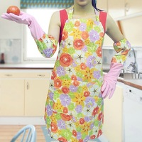 Print thermal latex gloves 2 double aprons 1