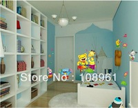 Free Shipping 2013 New design Vinyl Wall Stickers Cartoon Animals Home decoration Wall decals for Kids/Nursery Rooms