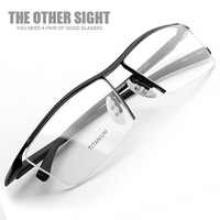Tos eyeglasses frame titanium male ultra-light glasses myopia commercial Men wireframe box 8189