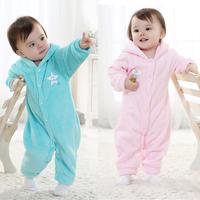 Autumn and winter velvet baby romper baby sleepwear creepiness service infant romper bodysuit jumpsuit