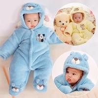 Thickening winter newborn baby boy female baby bodysuit clothes baby romper creepiness service