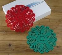Nostalgic vintage Handmade Crochet doilies Custom Colors Physical picture 100%