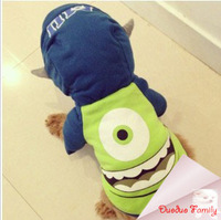 Monsters University, Mike Wazowski cotton winter  cosplay hoodies fit Bulldog, Labrador, Samoyed, Golden Retriever, post it free