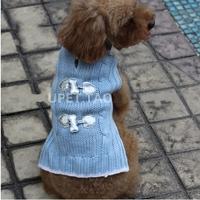 Free shipping Fashion beautiful Puppy Pet Cat Dog Sweater Knitwear Coat Apparel Clothes