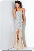 Custom Size -Custom Made -New Arrival Popular Sexy Sweetheart Open Back FLoor Lenghth Beads Crystal Evening Dress 2014