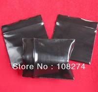 500pcs/lot 4*5cm 200mic Top quality Black plastic herbs bag zip lock bag small sample bag