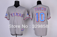Free Shipping Cheap Wholesale Authentic Texas Rangers Baseball Jerseys #10 Michael Young Jersey Embroidery Logo Size M-3XL
