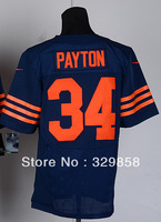Free Shipping Cheap Wholesale Authentic Elite American Football Jerseys #34 Walter Payton Jersey Embroidery Logos Mixed Order