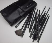 Professional Makeup Brush Set With 24 pcs Makeup Brush Kit Makeup Brushes Free Black Leather Case  Free Shipping