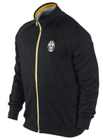 Thai version 13-14 Juventus black jacket N98 jacket, double color zipper long-sleeved clothes/free shipping
