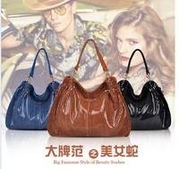free shipping 2014 fashion handbag  shoulder bag snake women handbags leather + PU bag 4 colors DT113