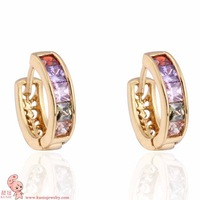New Arrival Gold plated fashion jewelry hoop earring for women KUNIU ER0390