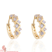 New Arrival wishing flower  fashion jewelry gold plated earring for chrismas gift KUNIU ER0454