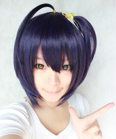 Takanashi Rikka Purple Black Cosplay Anime Wig Free Shipping