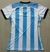 2014 World Cup Argentina Home Soccer jersey football women Shirt jersey Shirt sportswear Free Shipping