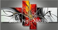 Free shipping 160X80 White Black Red Modern Abstract Art Oil Painting On Canvas Living room Home Decor Wall Picture No Framed B1