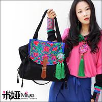 Handmade chinese embroidery bags national trend female bags messenger bag handbag canvas bag water smoke