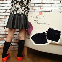 100% cotton black bow knee-high socks girls Socking Children's Fashion Black  Stocks Kids Fashion black Stocking S,M,L