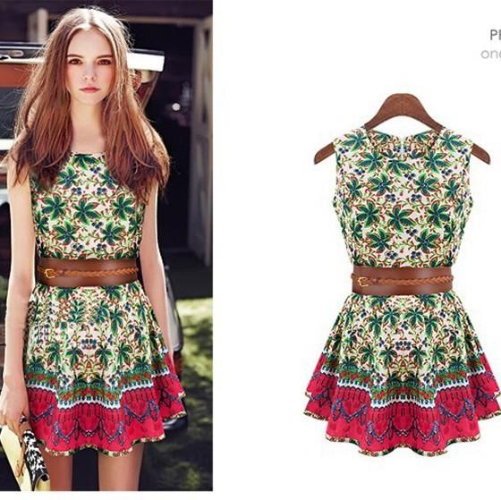 Платье летнее с поясами