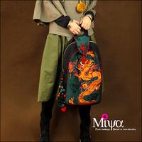 Original design handmade embroidered bag chinese style female bags portable school bag millenium