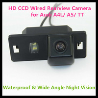 Russian HD CCD Wired Car Rear view camera for Audi A5/ A4L/ TT with 728*582 pixel 170 degree Angle night vision waterproof
