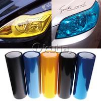 Wholesales 12 Colors 8 Rolls  Size:30cm*10m/roll  Auto Car Light Headlight Taillight Tint Vinyl Film Sticker Free Shipping