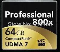 Wholsale 64GB CF card  professional compact flash UDMA 800X free shipping
