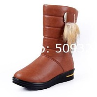 Factory wholesale new lady fur to keep warm in the tube snow boots women's boots casual British fashion women shoes